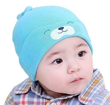 Demarkt 1pcs Confortable Chapeau Bonnet de Nuit Sommeil en Tricot pour Bébé  6-36 e40d7866a4d