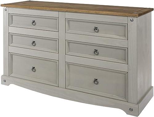 Wood Dresser 3 3 Drawers Chest Corona Gray | Furniture Dash