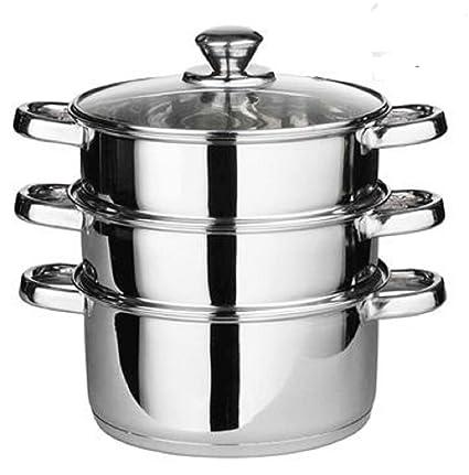 24 cm 4 Piezas Vaporera Cocina Pot Set Pan cocinar Alimentos ...