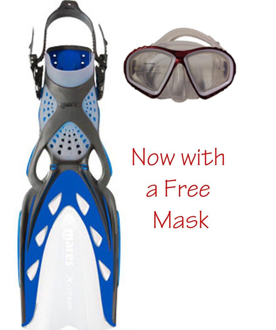 【超ポイントバック祭】 Mares Size X-Stream Scuba with Diving Fins Blue a on White Now with a Free Mask Size Regular 141[並行輸入] B00HS4KI9E, モアコスメ:acb7ddd2 --- irlandskayaliteratura.org