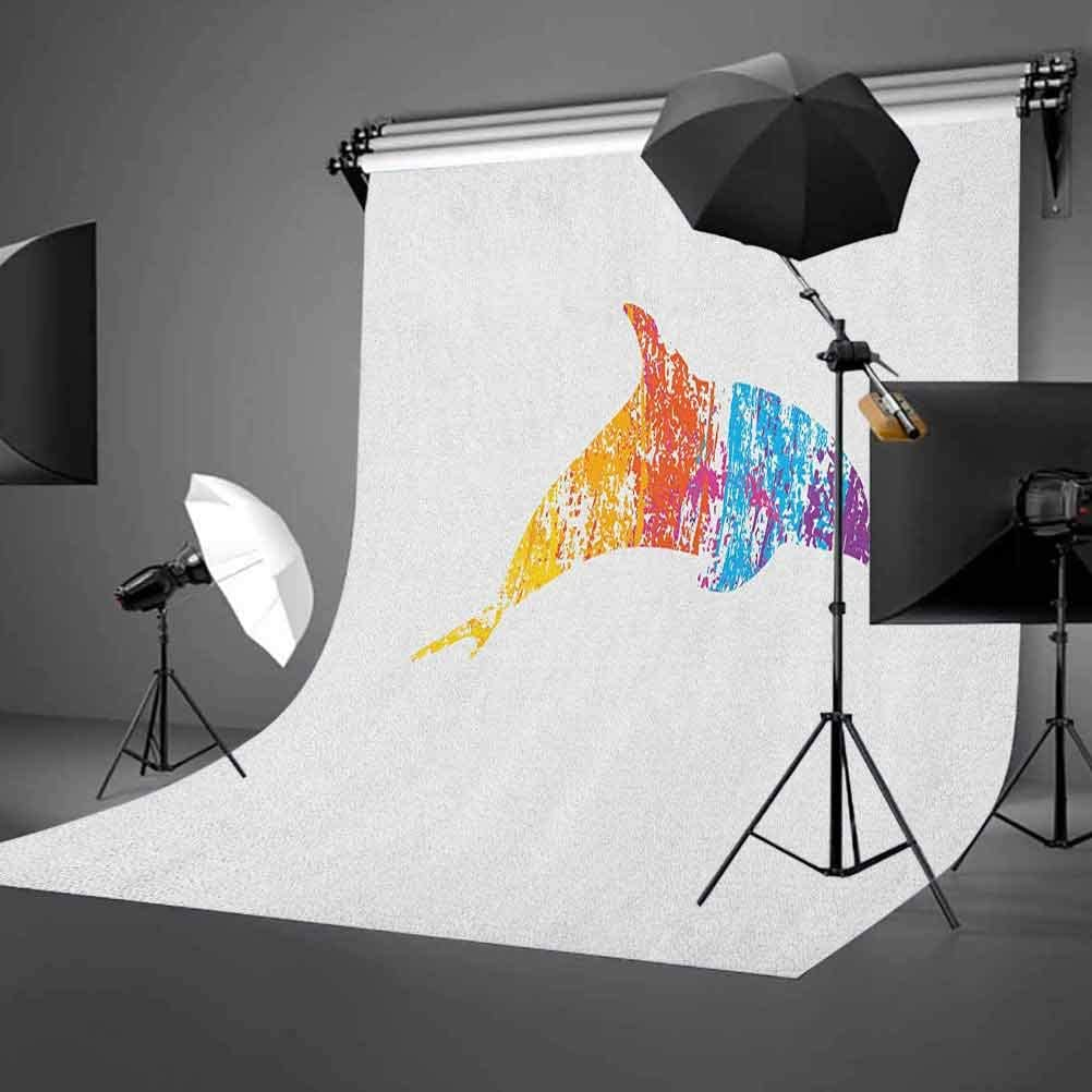 7x10 FT Vinyl Photography Backdrop,Abstract Flowers Pattern with Colorful Petals and Foliage Hand Drawn Illustration Background for Graduation Prom Dance Decor Photo Booth Studio Prop Banner