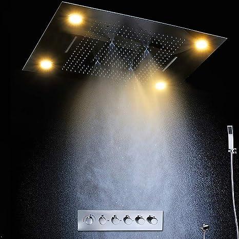 Cascada Luxury - Sistema de ducha de lluvia con 5 funciones ...