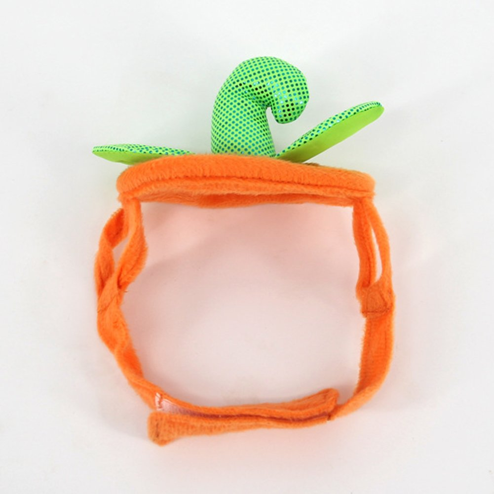 Lovejoy Store Pet Cat Cosplay Costume Hat Green Adjustable Halloween Party Lovely Pets Cats Pumpkin Hat with Easy Adjustable Magic Tape Orange