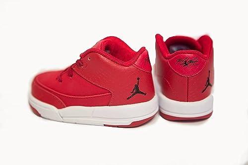 20c613dde393 Jordan Nike 820248-601 Flight Origin 3 BT RED White Premium Sneaker Toddler-
