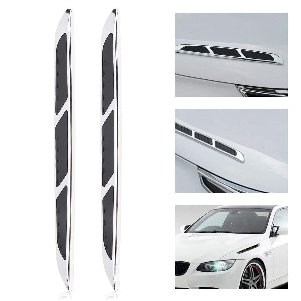 Car Hoods /& Door Side Simulation Air Flow Vent Intake Grille Decal Sticker Trim