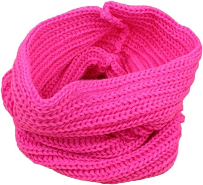 Yamalans Children Muffler Baby Winter Warm Woolen Yarn Knitted Scarf Boy Girl Wrap