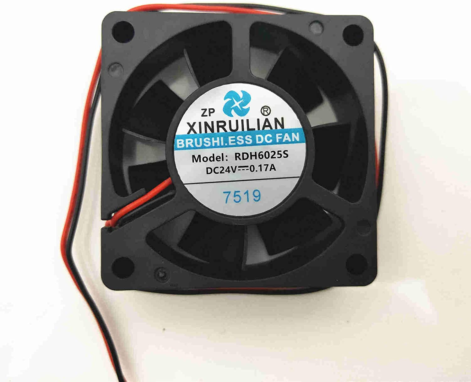for XINRUILIAN RDH6025S 24V 2wire 0.17A 6CM 60x60x25mm Cooling Fan