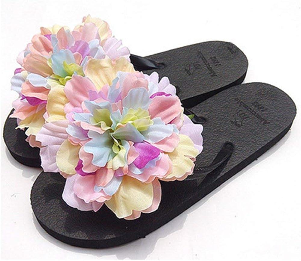 blue flower summer shoes retro floral prints Flip-Flops flower prints slippers summer gift floral flip flops vintage beach sandals