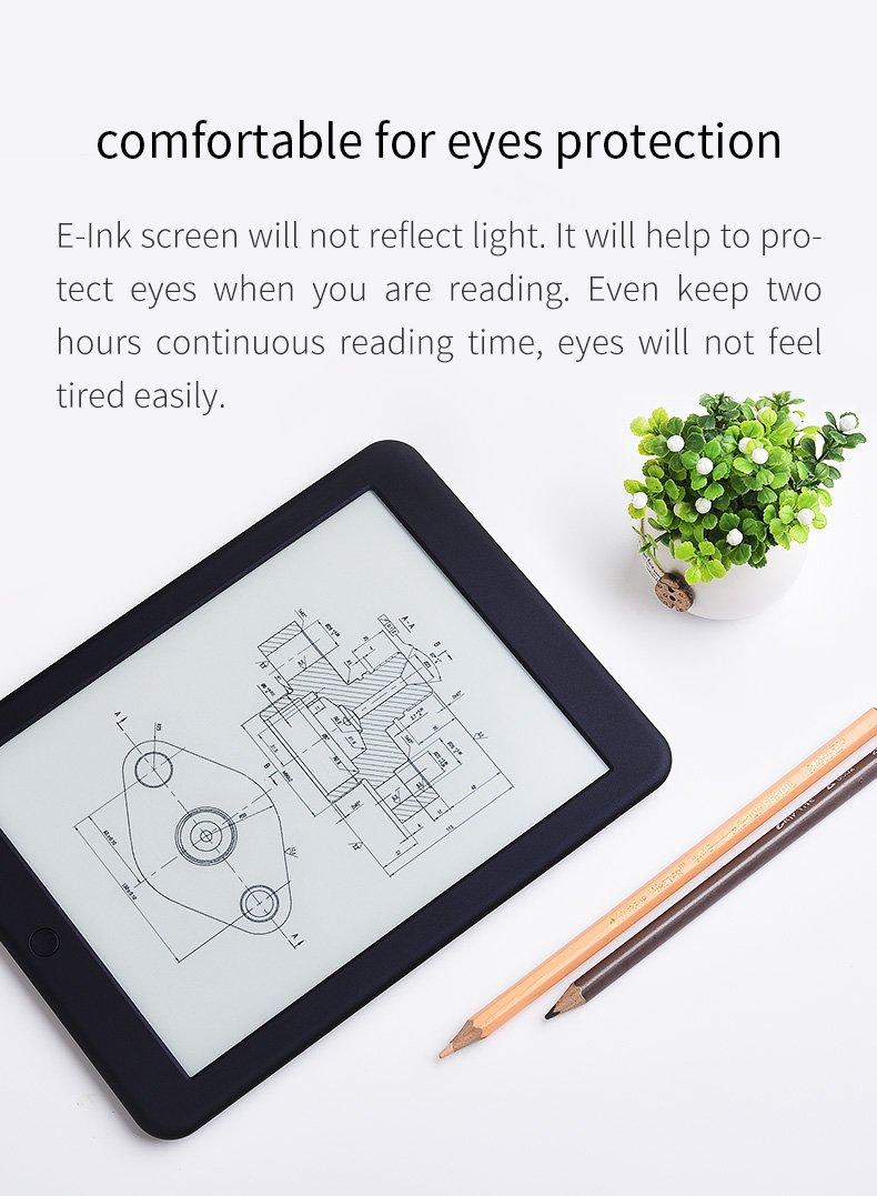 Boyue Likebook Plus 7.8 '' E-Reader, Pantalla (300 ppi) con luz incorporada, Cubierta Libre T80S-LB