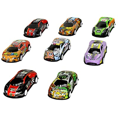 TangTanger 8 Pcs Mini Car Toy Miniature Figurine Toys, Cake Toppers, Cake Decoration: Toys & Games