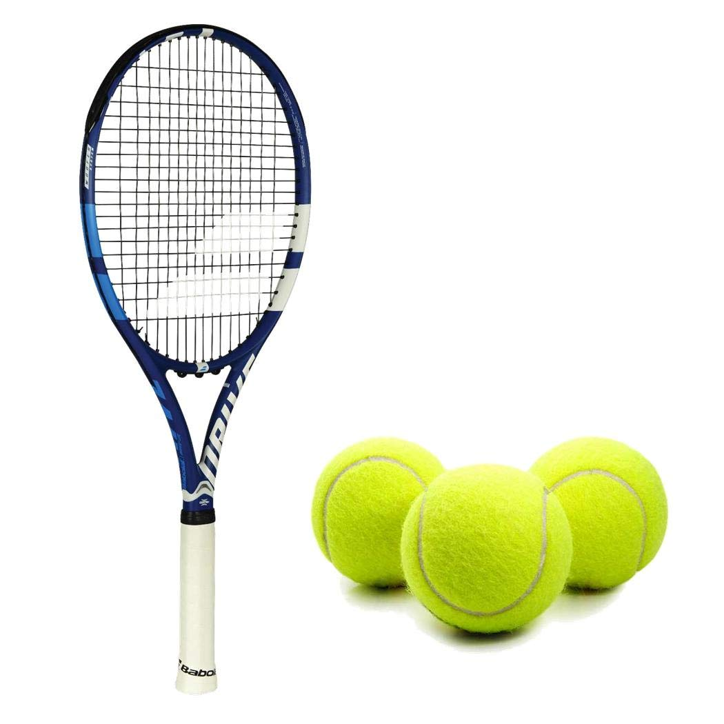 Babolat Drive G (Game) Lite Tennis Racquet (4 3/8'' Inch Grip) Kit or Set Bundled with (1) Can of 3 Tennis Balls (Perfect for Intermediate Players)