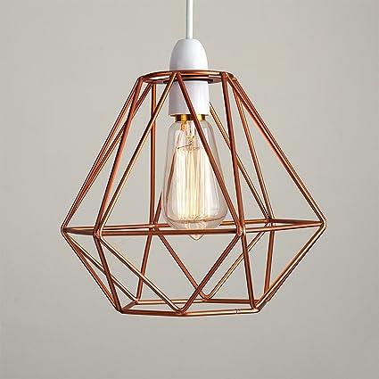Amazon.com: Lámpara colgante de hierro forjado con forma de ...