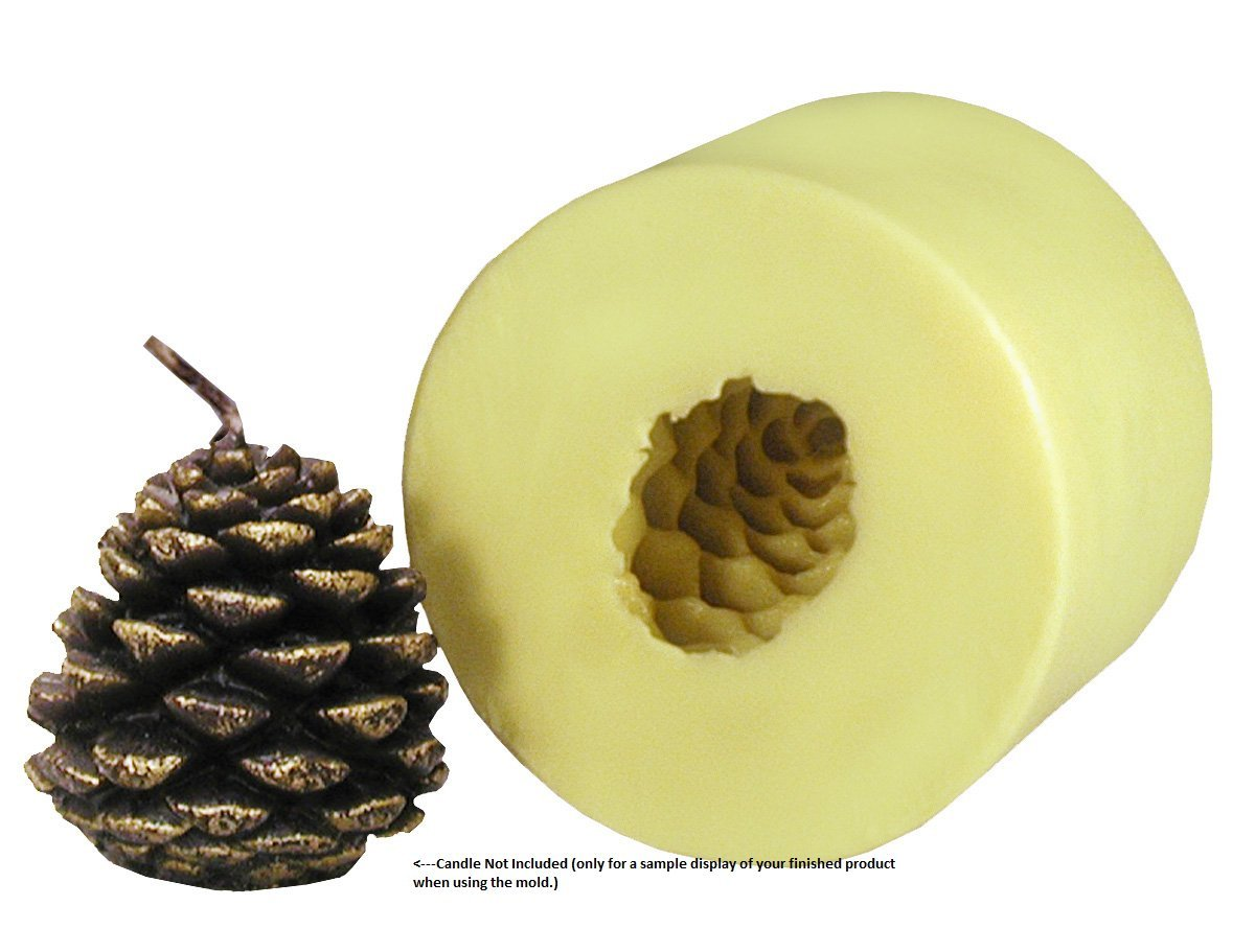 Mann Lake ''Small Pine Cone'' Candle Mold