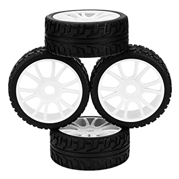 DN 17 mm 12 Spoke Llantas Llanta de plástico Cubo de la rueda de goma para RC 1: 8 Off-Road Car (paquete de 4): Amazon.es: Juguetes y juegos