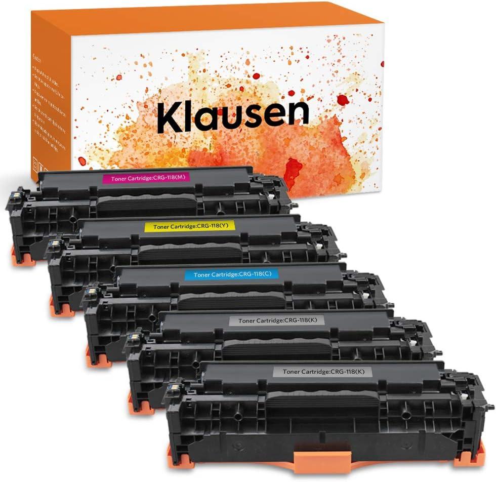 5 PK for Canon 118 Color Toner Cartridge ImageCLASS MF8580CDW MF8380CDW MF726Cdw