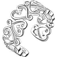 atommy Anillo Tamaño ajustable abierto anillos anillo