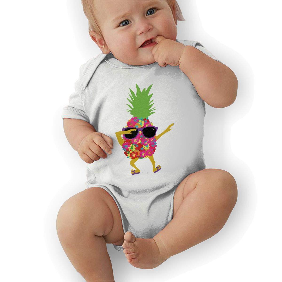 BONLOR Dabbing Cool Sunglasses Pineapple Baby Boys Girls Jumpsuit Overall Romper Bodysuit Summer Clothes White