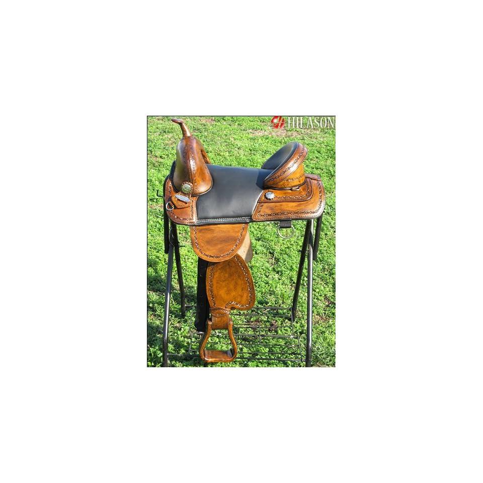 Hilason Treeless Western Barrel Racing Trail Saddle