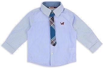 The Essential One - Bebé Infantil Niños Camisa Manga Larga Y lazo de 2 piezas Set - Azul - EOT429