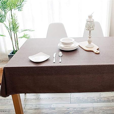 XZDXR mantel a prueba de agua de mesa de color sólido resistente ...