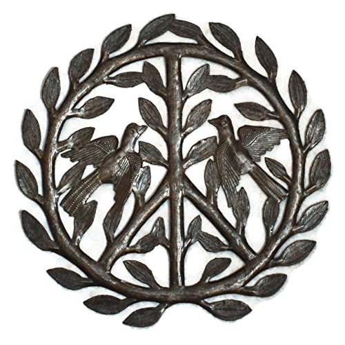 Haitian Metal - it's cactus - metal art haiti Peace Sign Haitian Metal Recycled Outdoor Art Wall Sculpture, 12