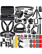 Neewer 53-In-1 Accessory Kit for GoPro Hero 7 6 5 4 3+ 3 2 1 Hero Session 5 Black AKASO EK7000 Apeman SJ4000 5000 6000 DBPOWER AKASO VicTsing WiMiUS Rollei QUMOX Lightdow Campark and Sony Sports DV