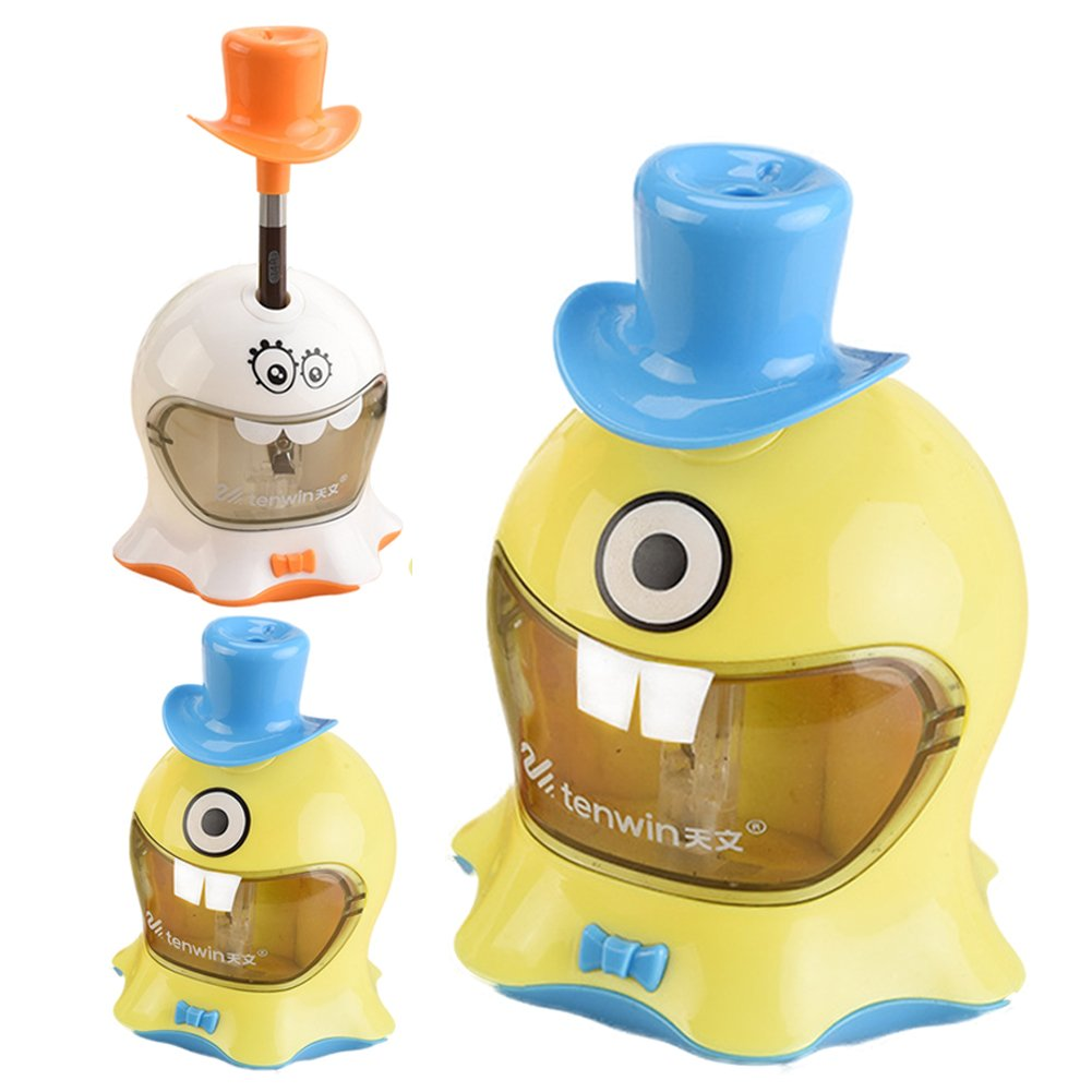 Electric Cartoon Pencil Sharpener Automatic Pencil Cutter for Kids Desktop School Stationery Office Supplies quemu