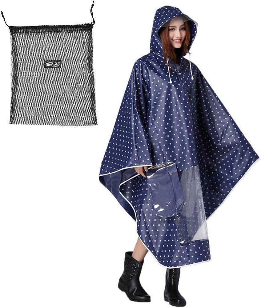 Blau Tragbar Atmungsaktiv mit Kapuze Regenbekleidung Fahrrad Regenschutz f/ür Fahrradfahrer Regenmantel Wasserdicht Fahrrad Regenponcho