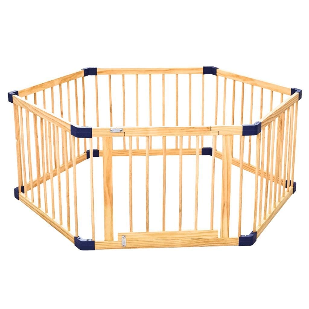 LJFYMX Puppy heavy puppy play pen Pet fence game small animal wooden fence cage rabbit guinea pig puppy, indoor and outdoor Puppy fence