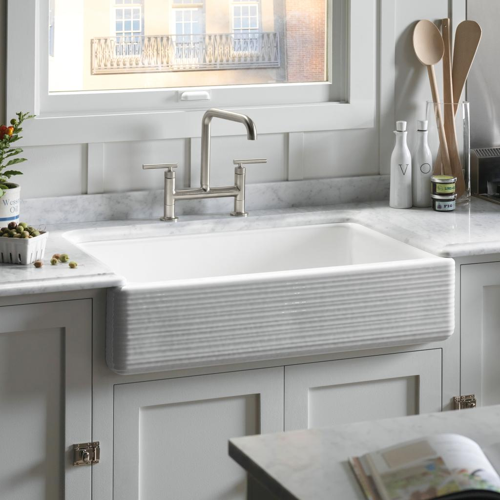 kohler k 6349 0 whitehaven hayridge under mount large medium double bowl kitchen sink with tall. Black Bedroom Furniture Sets. Home Design Ideas