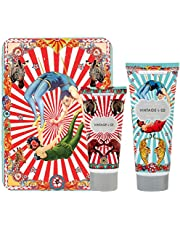 Vintage & Co Grand Circus Bathing Tin with Shower Gel 100mL & Body Lotion 50mL, 0.346 kg