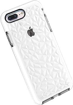Funda iPhone 8 Plus / 7 Plus, Carcasa Silicona Transparente Protector TPU Airbag Anti-Choque Ultra-Delgado Anti-arañazos Case 3D Modelo de Diamante Funda (iPhone 7 Plus / 8 Plus, Blanco): Amazon.es: Electrónica