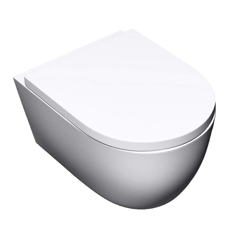 Sogood 35, 5x48x25cm Hä nge-WC Aachen106 aus weiß er Keramik Toilettensitz mit Absenkautomatik