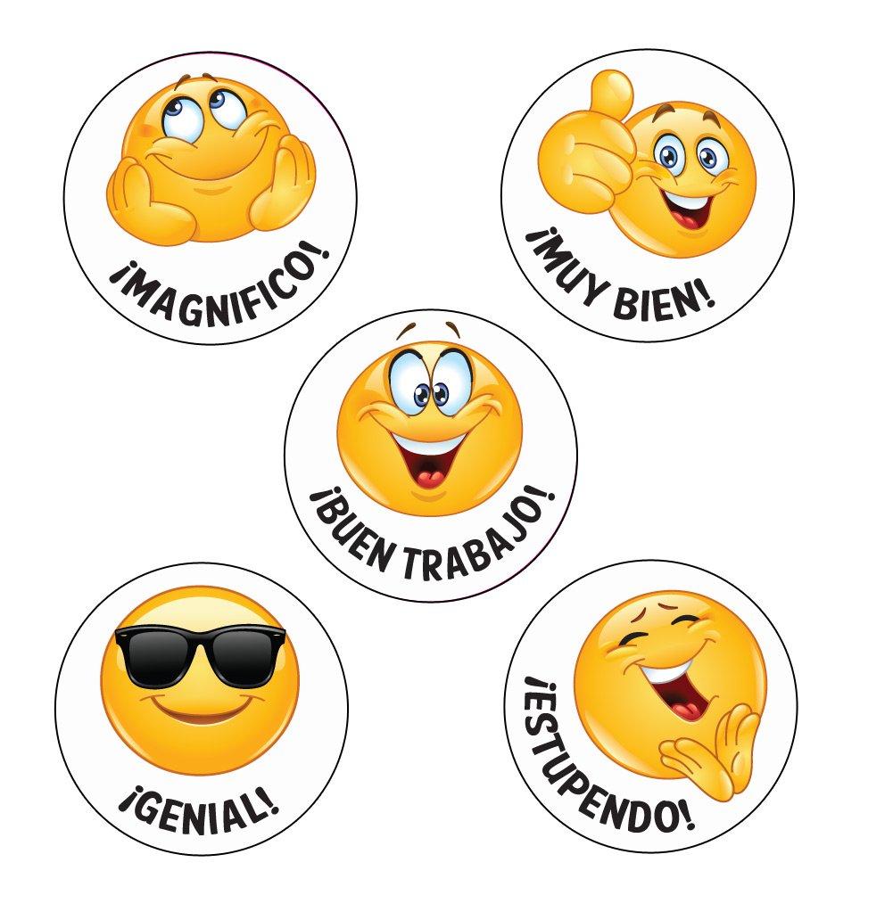 28/mm pegatinas profesores Talla Espanol Emoji Pegatinas 125/x.Magnifico