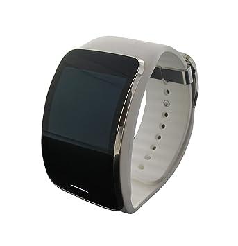 Official Samsung Galaxy Gear S White EU Smart Watch: Amazon ...