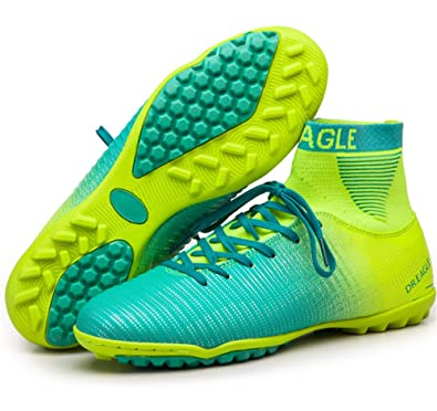 2b63697cf1785 Amazon.com | LEODI High Ankle Turf Futsal Boots Soccer Shoes Men Indoor  Football Cleats | Football