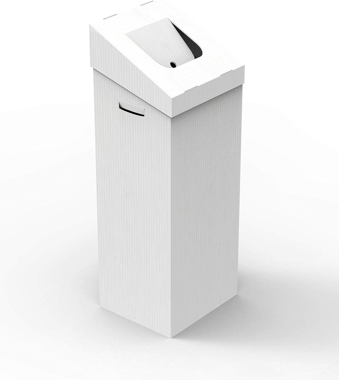 papelera DE Carton Blanco 100L 35X30X95 AUTOMONTABLE: Amazon.es: Hogar