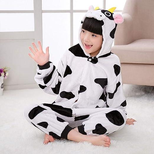 FTYUNWE Niños De Halloween Disfraces Niños Vaca Pijama Animal ...