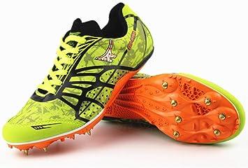 HYGLPXD Zapatillas de Clavos para Correr Livianos Clavos, Zapatillas de Correr Unisex Zapatillas de Sprint Junior para niños Zapatillas de Entrenamiento para Correr,001,38EU: Amazon.es: Deportes y aire libre