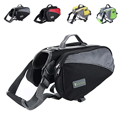 Wellver Dog Backpack Saddle Bag Travel Packs
