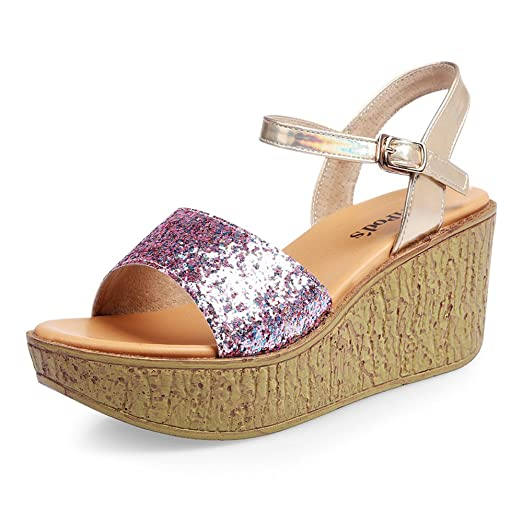 Tan Flat Strappy Sandals with Sequined Detail plbxSRD9