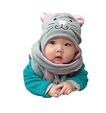 Kinder Winter Mütze Schal, Warme Baby Kleinkinder Mädchen Jungen ...