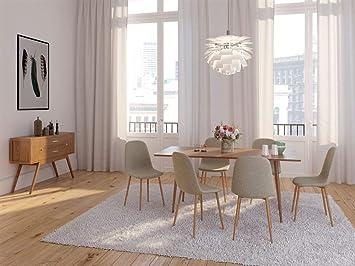 Zons Lot De 4 Chaises Salle A Manger Scandinave Taupe 45x55xh85cm