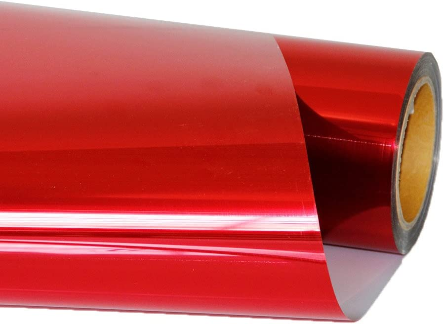 hoho metálico rojo camiseta de transferencia de calor de vinilo lámina de vinilo para la ropa para textil 20