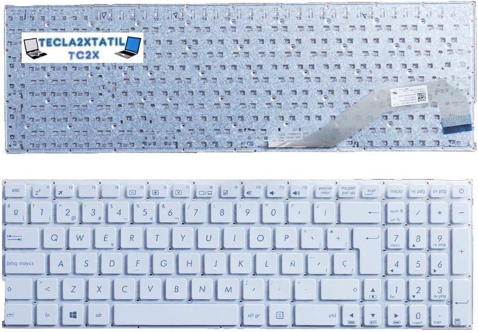 Teclado Compatible DE Y para PORTATIL ASUS F540 EN ESPAÑOL SIN Marco Blanco Ver Foto