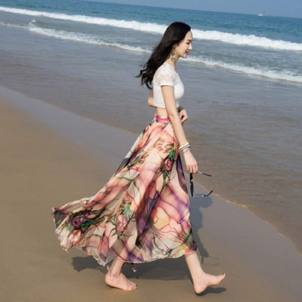 KLGDF Falda Falda de Playa Bohemia Faldas largas de Verano Faldas ...