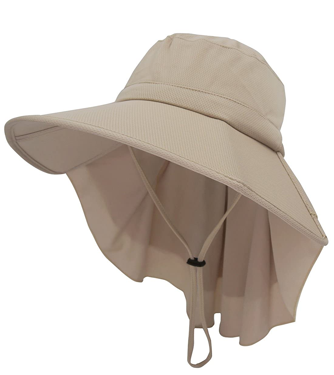 Roffatide Mujeres Sombrero de Sol con Cuello Protección UV Gorra ...