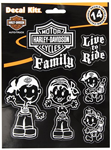 Chroma 5390 White Harley Davidson Family Decal Kit