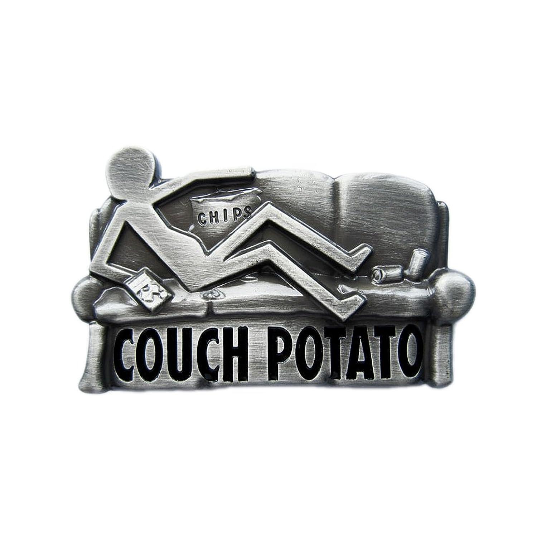 eeddoo® Gürtelschnalle - Couch Potato (Buckle für Wechselgürtel für Damen und Herren   Belt Frauen Männer Oldschool Rockabilly Metall Gothic Wave Rock Biker Western Trucker Casino Skull)