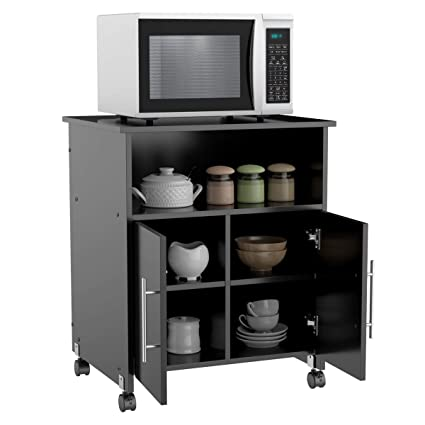 Phenomenal Yaheetech Collection Printer Stand Mobile Work Cart Desk Storage Cupboard Home Office Furniture Black Home Interior And Landscaping Transignezvosmurscom